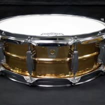 "Ludwig 5x14"" Hammered Bronze Snare Drum 1990s image"