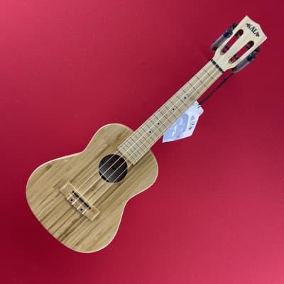 [USED] Kala KA-BMB-C Solid Bamboo Concert Ukulele, Natural Satin
