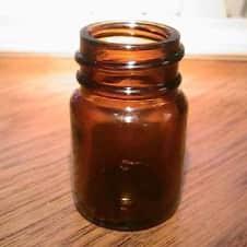 "Blooze Bottle SA1 Short 2"" Amber Glass Guitar Slide  Amber image"