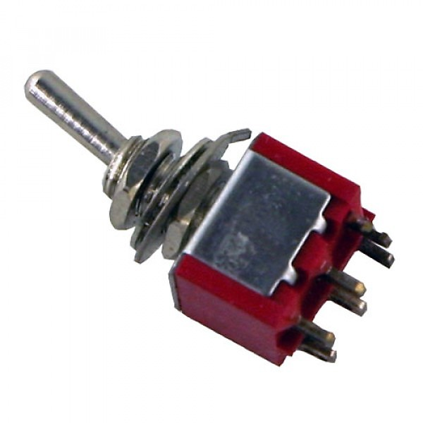 Carling 2 Position Mini Toggle Switch, DPDT | NewOldSounds
