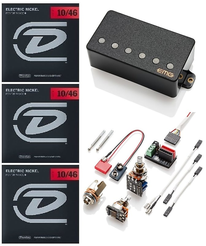 DUNLOP GUITAR TUNER EMG 66 CHROME ACTIVE SOLDERLESS HUMBUCKER GUITAR PICKUP