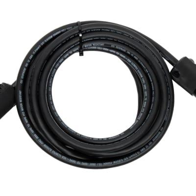 Elite Core PC12 Hand-Built 12 AWG Power Cable - 100 ft / Edison Male / Edison Female