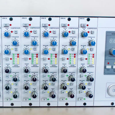 Solid State Logic X-Rack Loaded with 8 XR618 Dynamics Modules