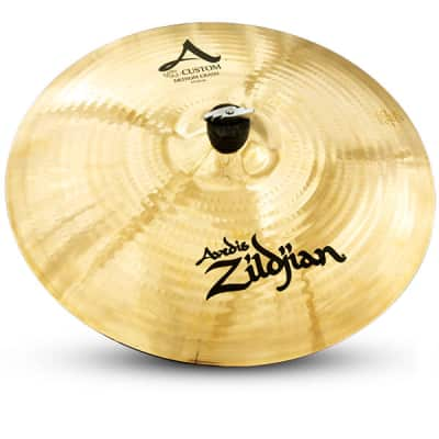 "Zildjian A20827 17"" A Custom Medium Crash Cast Bronze Drumset Cymbal with Bright Sound"