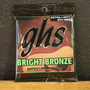 GHS BB20X Bright Bronze 80/20 Acoustic Guitar Strings - Extra Light (11-50)