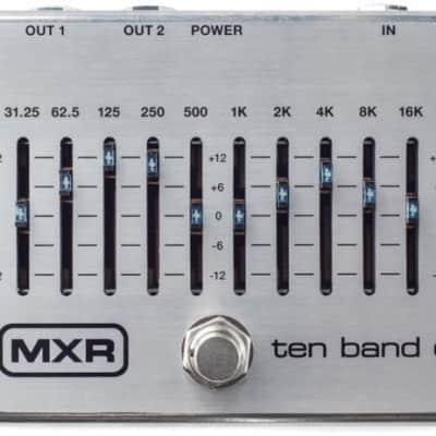 Dunlop MXR EQ 10 Bandas Silver M108S for sale