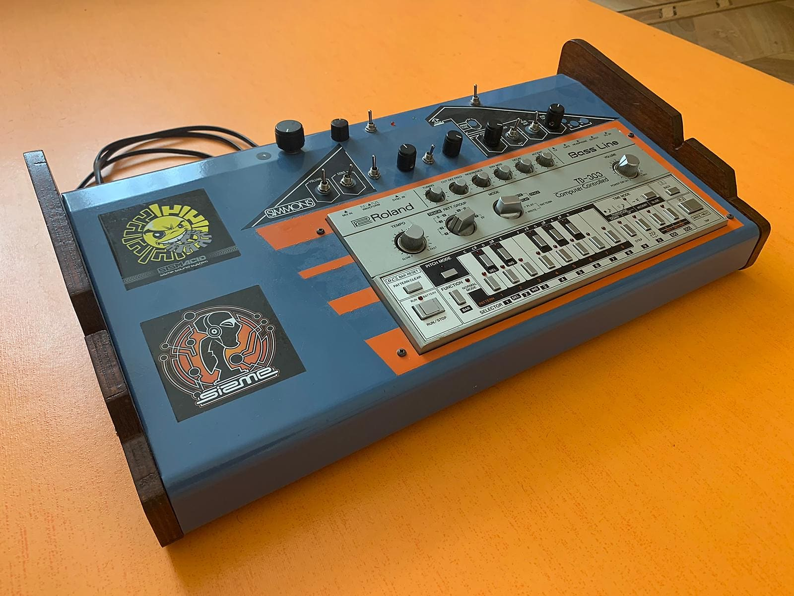 Roland TB-303 Bass Line Synthesizer Module super station ultra rare boosted