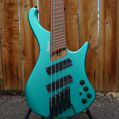 Ibanez EHB1005SMS Emerald Green Metallic Matte 5-String Multi-Scale Electric Bass Guitar 2021 for sale