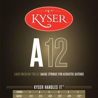 Kyser KA3 Phosphor Bronze Acoustic Guitar Strings, Light/Medium - Made in USA
