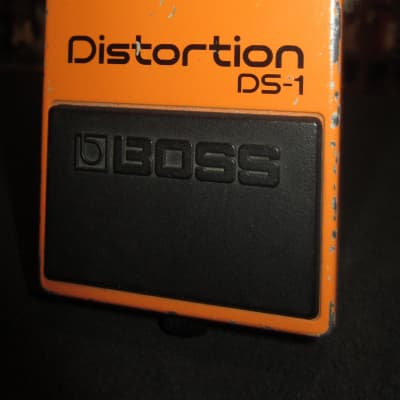 Vintage Circa 1984 Boss DS-1 Distortion Pedal Made in Japan Black Label for sale