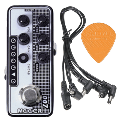 Mooer Micro PreAmp 007 - Regal Tone NEW! based on ToneKing® Falcon +joyo Pick +5Way PDC5 Power Cable
