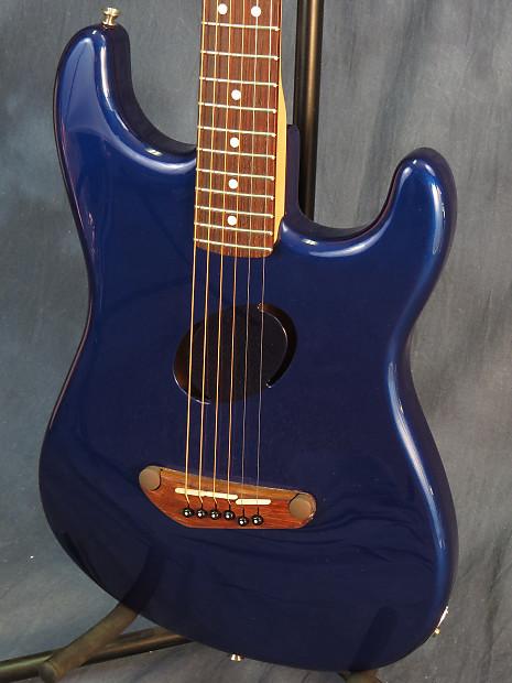 Fender Stratocaster Neck >> Fender Acoustasonic Stratocaster Sapphire Blue | Reverb