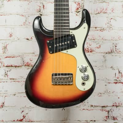 Mosrite Mini Octave Guitar 6-String Sunburst x0846 (USED) for sale