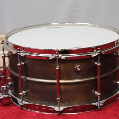 "dDrum 7""x14"" Modern Tone The Bare Knuckle Brawler Patina Snare Weathered Finish"