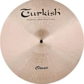 "Turkish Cymbals 19"" Classic Series Classic Ride Flat C-RF19"