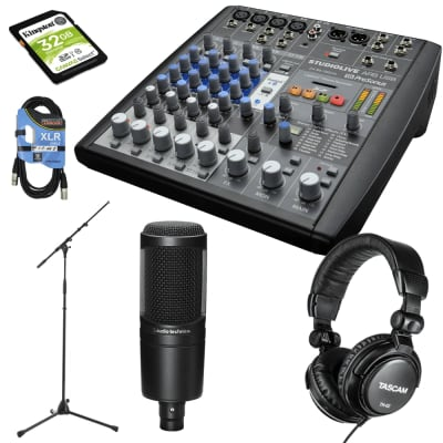 PreSonus StudioLive AR8 USB 8-Channel Hybrid Performance and Recording Mixer Bundle.