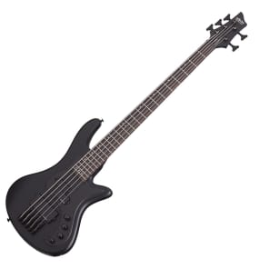 Schecter Stiletto Stealth 5 String Satin Black