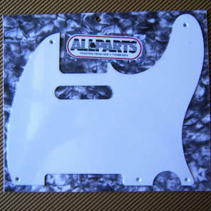 Allparts Pickguard for Telecaster, 1-ply Whiteguard style for sale