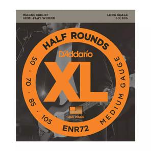 D'Addario ENR72 Half Round Long Scale Medium Bass Strings