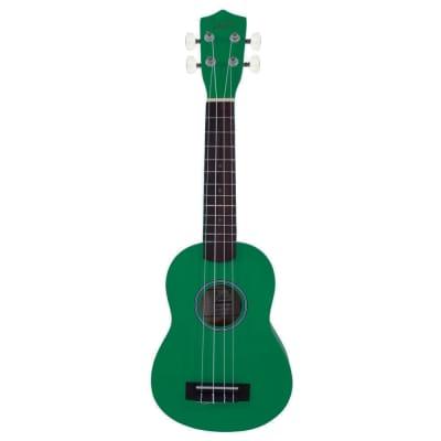 Glarry UK101 21inch Soprano Rosewood Fingerboard Basswood Ukulele Green for sale