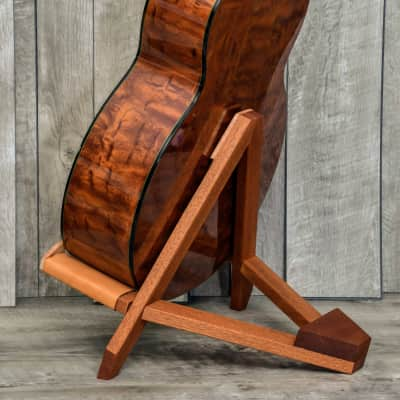 Acoustic Guitar Stand Mahogany and Maple, Classical Guitar, Boutique Wood Guitar Stand for sale
