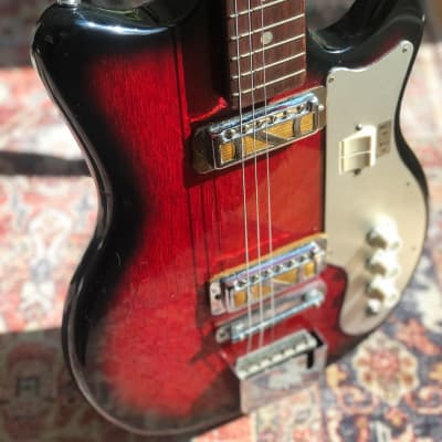 Rare Kimberly EJ-2 1960's  Electric Guitar Cherryburst for sale