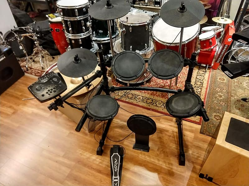 simmons sd7k electronic drum set with rack and cables reverb. Black Bedroom Furniture Sets. Home Design Ideas