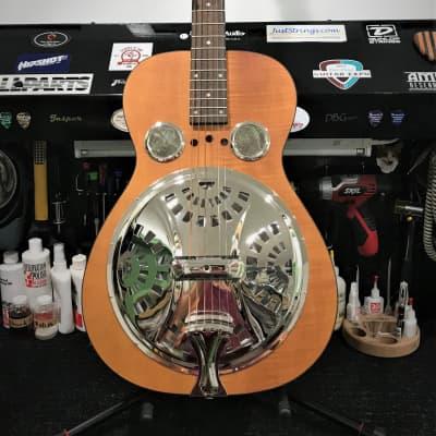 Dobro Hound Dog Round Neck Resonator Guitar - Vintage Brown for sale
