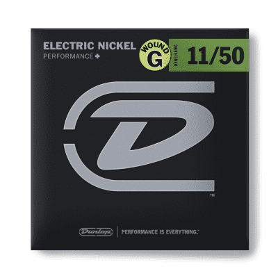 Dunlop DEN1150WG Performance+ Nickel Wound Electric Guitar Strings with Wound G - 11-50