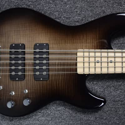 G&L L-2500 Black Burst with Flame Maple Top Over Swamp Ash with Maple *On Order ETA=December