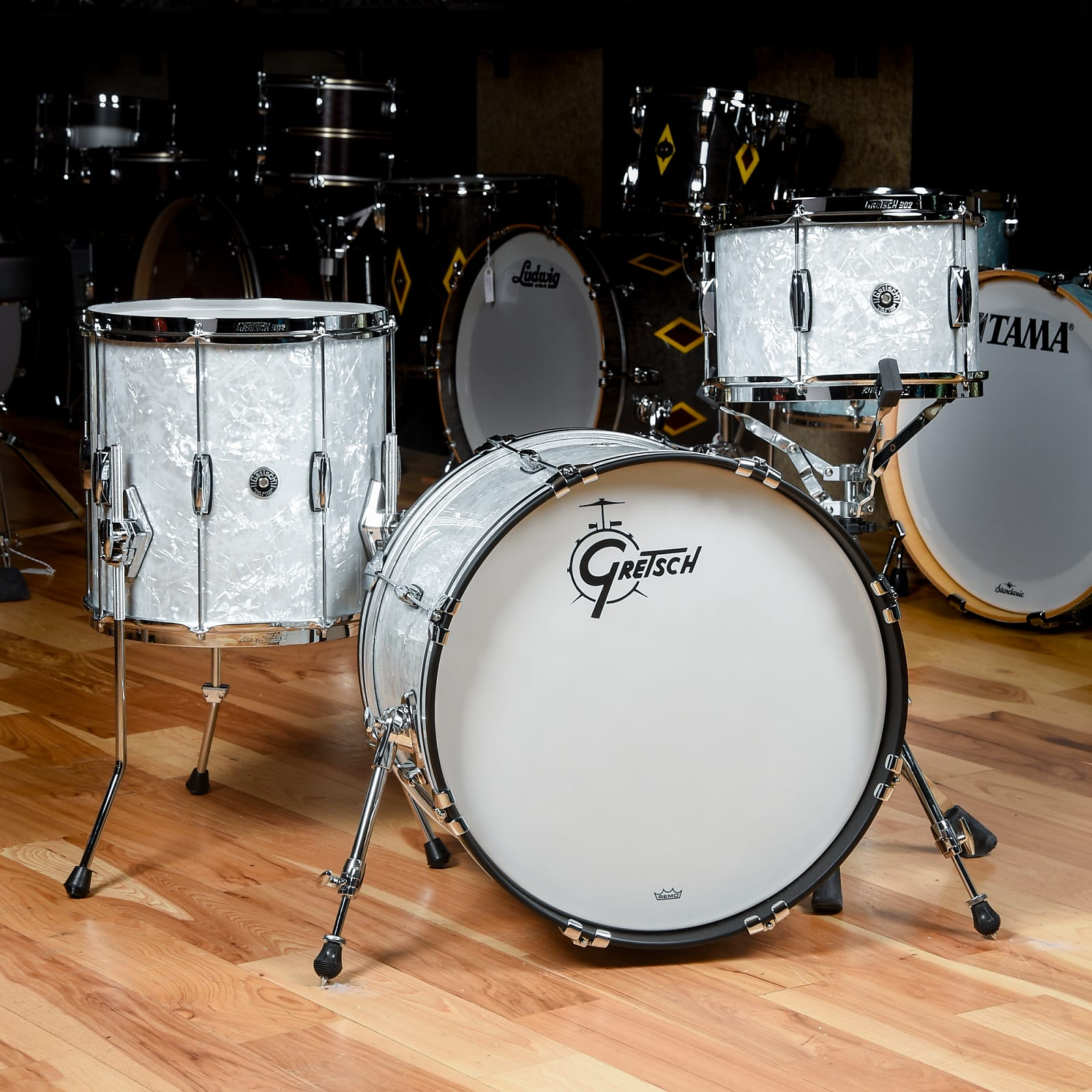 Gretsch Brooklyn Heritage Build 12/14/20 3pc. Drum Kit '60s Marine Pearl (CDE Exclusive)