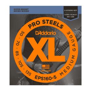 D'Addario EPS160-5 5-String ProSteels Medium Bass Strings