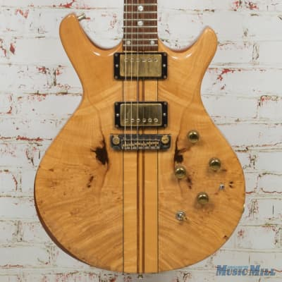 1981 Moonstone Eclipse Natural Burl Double Cut Electric Guitar (USED) for sale