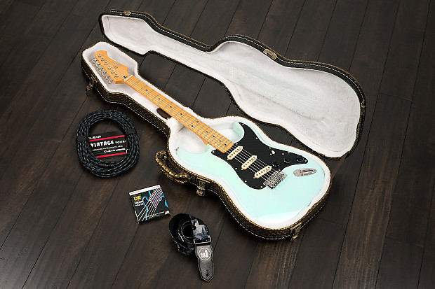 quincy custom memphis zx1 deluxe strat style electric guitar reverb. Black Bedroom Furniture Sets. Home Design Ideas