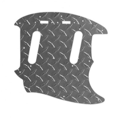 Mustang Pickguard - Raw Aluminium Diamond Plate
