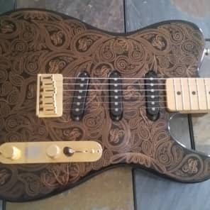 Fender James Burton Signature Telecaster 1989 Black with Gold Paisley for sale