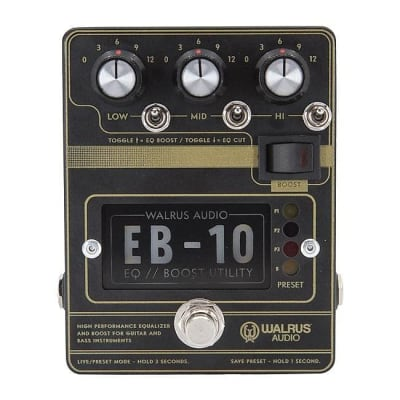Walrus Audio EB-10 Preamp // EQ // Boost - Black for sale