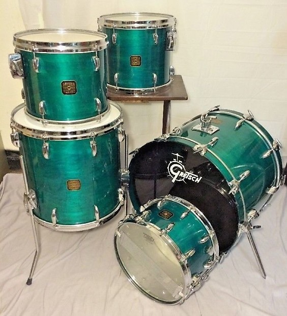 rare gretsch usa custom 80s drum set jasper reverb. Black Bedroom Furniture Sets. Home Design Ideas