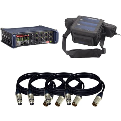 Zoom F8n Multi-Track Field Recorder + Zoom PCF-8 Protective Case For F8n and (4) XLR to XLR cables 15 FT Ea.