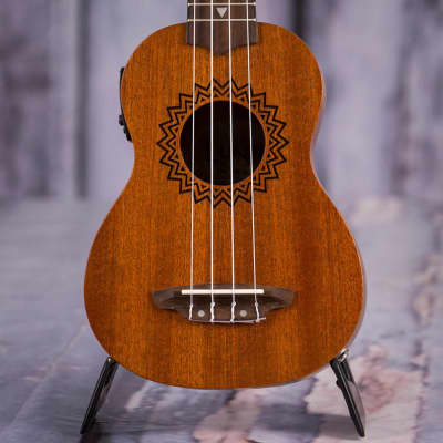Luna Vintage Mahogany Soprano Acoustic/Electric Uke, Satin Natural for sale