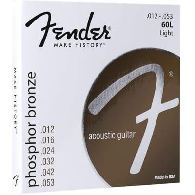 FENDER Phosphor Bronze .012-.053 Acoustic Guitar Strings