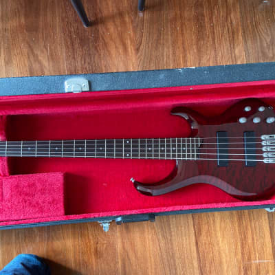 Ibanez BTB405QM 2000s Red for sale