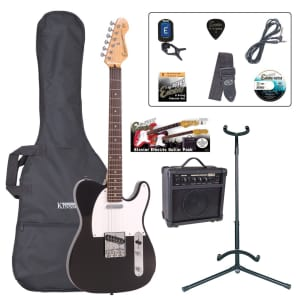 ENCORE ELECTRIC GUITAR OUTFIT - GLOSS BLACK for sale