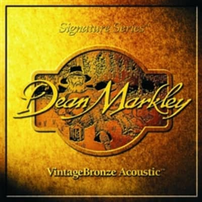 Dean Markley Signature VintageBronze Acoustic Guitar Strings - Medium Light, 12-54 for sale