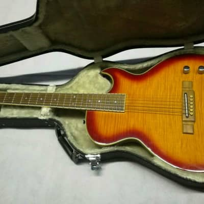 Washburn SBF-80F Acoustic Electric HALBAKUSTIK GITARRE, Cherry Sunburst,warmer Sound sunburst for sale