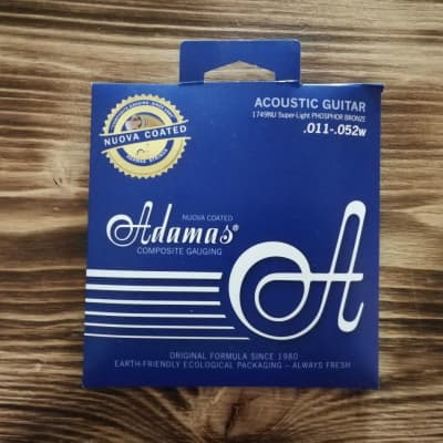 Adamas 1749NU .011 - .052w Super Light Acoustic Guitar String-Set for sale