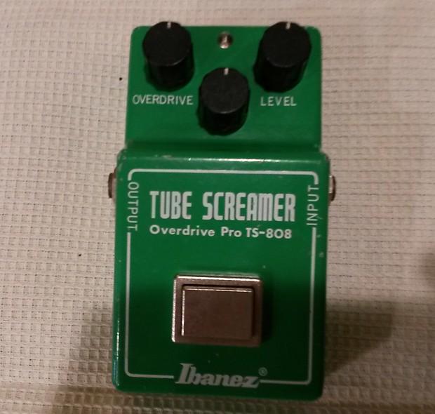Vintage 1981 Tube Screamer Pro TS-808 1981 Green   Reverb