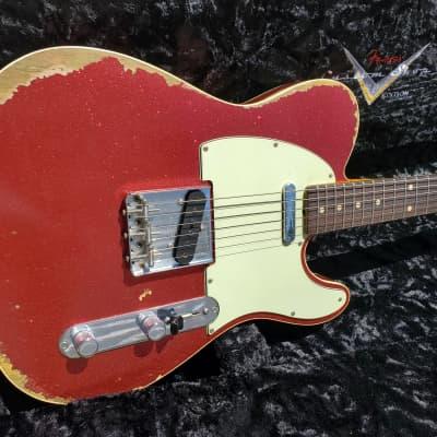 Fender Custom Shop Dealer Select Wildwood 10 '62 Telecaster Relic Red Sparkle for sale