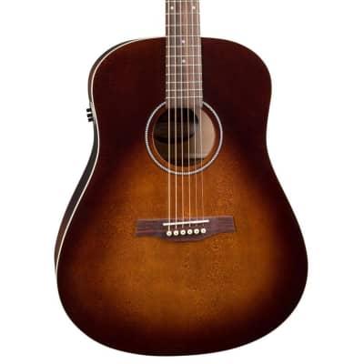 Seagull S6 Cedar Original QIT Acoustic-Electric Guitar - Burnt Umber