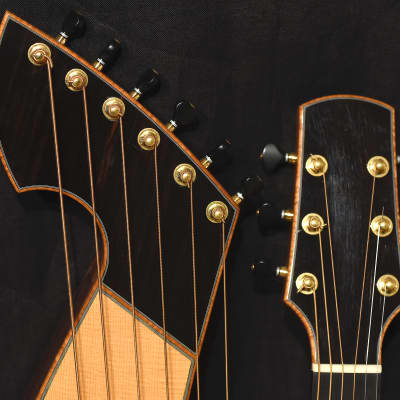 Noble Harp Guitar in Lutz Spruce and Rosewood for sale